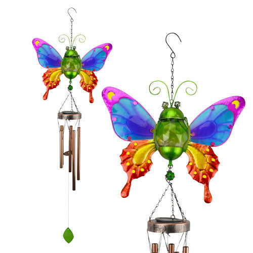 Chime Solar Butterfly Jar Rainbow - Findlavender