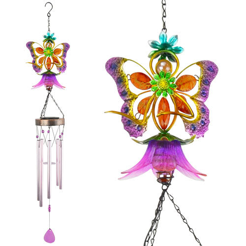 Chime Glass Fairy Pink - Findlavender