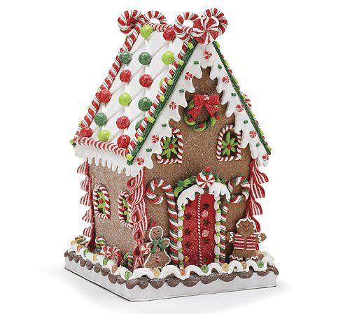 Whimsical Polymer Clay Gingerbread House That Lights Up Christmas Holiday Decor - Findlavender