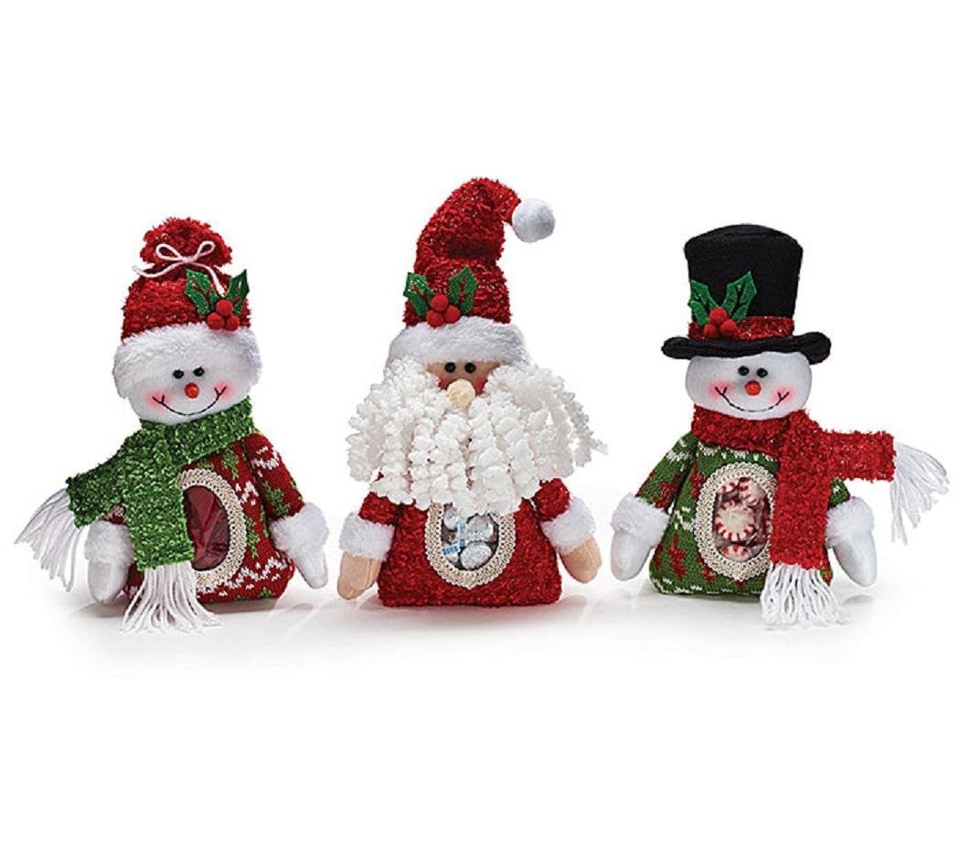 Christmas Holiday Plush Candy Bag Assortment with See Through Tummies (Set of 3) - Findlavender
