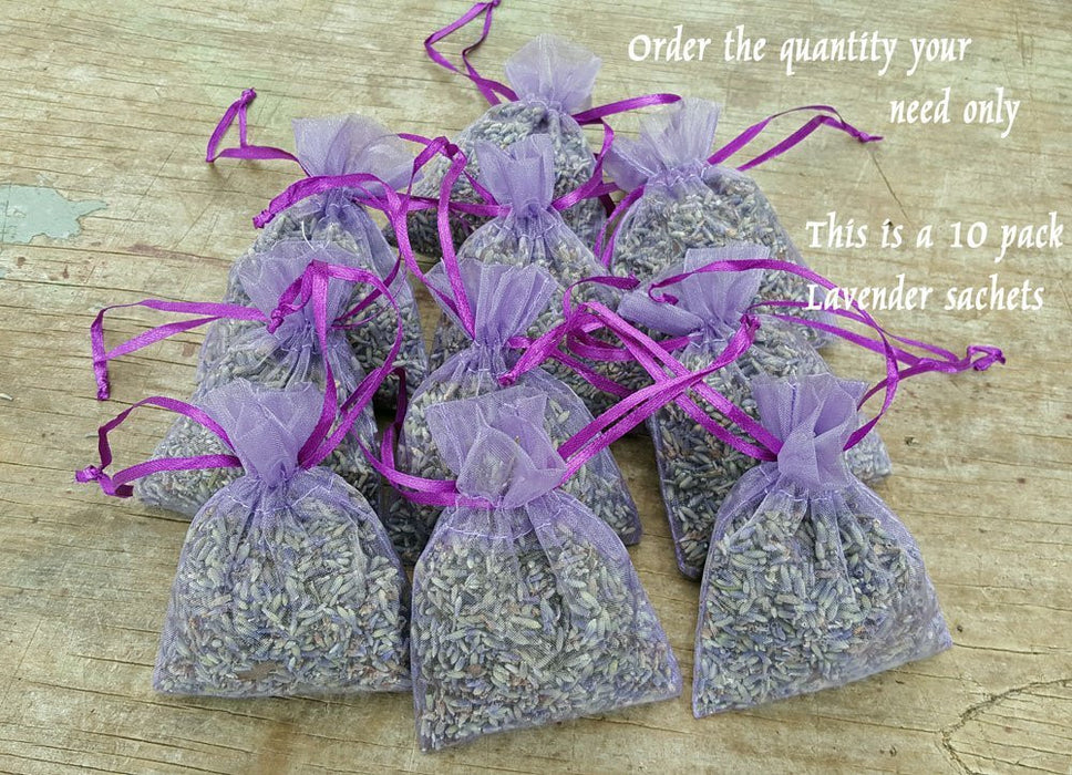 Lavender Sachets - Filled with one of the most fregrant lavender plants (Grosso) - Findlavender