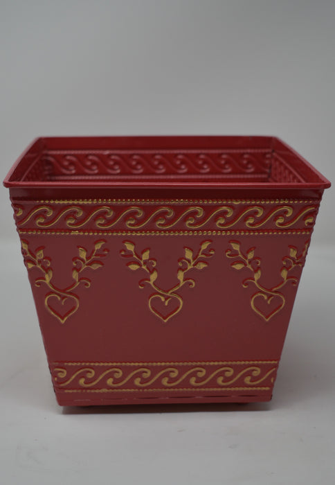 Red and Gold Detail Planter