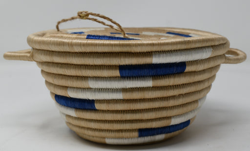 Handwoven Basket Blue&White