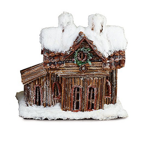 Log Cabin Christmas Decoration - Findlavender