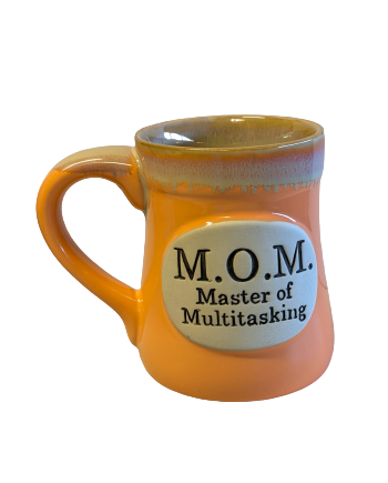 Ceramic Mug with a White Interior and Message