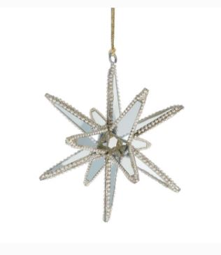 Gold and Silver Starburst Ornament