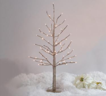 Glitter Champagne Twinkle Light Tree