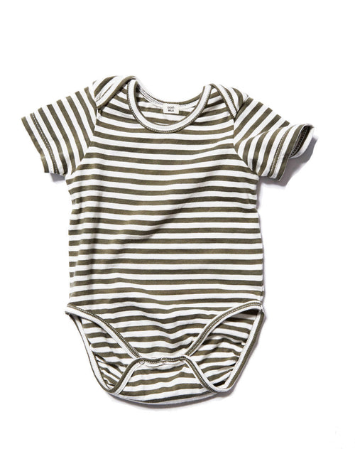 GOAT-Milk Short Sleeved Onesie, Moss