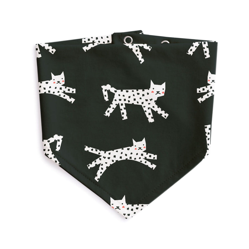 Kerchief Bib, Cats Black