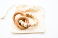 Sedona Teething Ring + Rattle, Buff