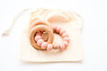 Sedona Teething Ring + Rattle, Shell