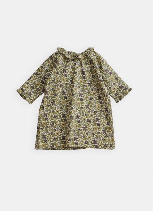 Belle Enfant Ruffle Collar Dress, Liberty Meadow