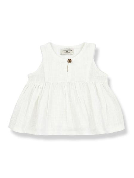 Hilda Sleeveless Blouse, Off-White