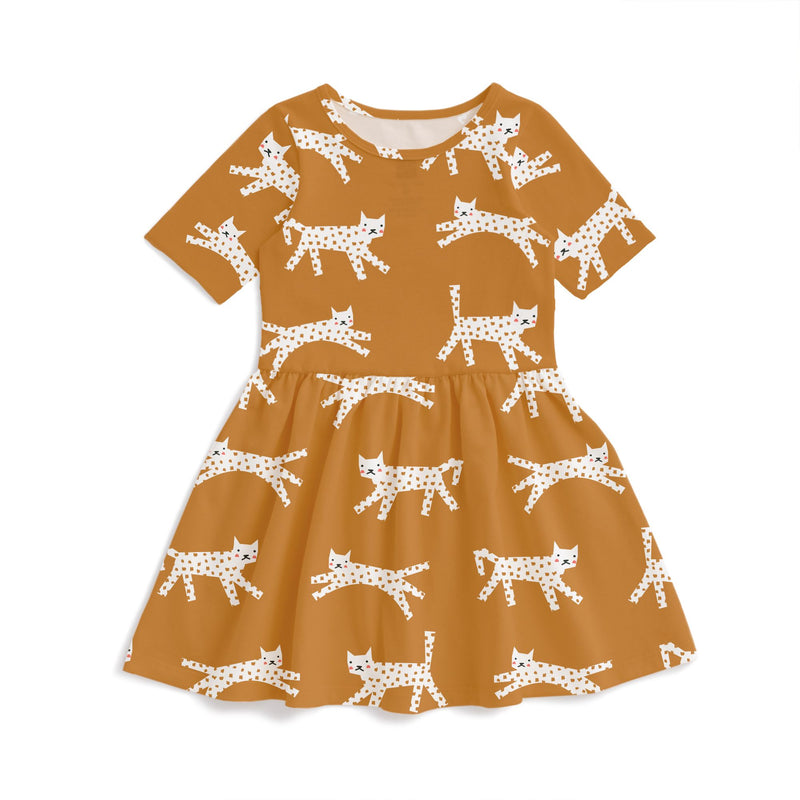 Alberta Dress, Cats Gold