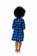 Smiling Button Winnie Dress, Flannel Buffalo Check