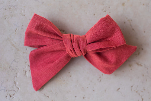 Nora Medium Bow, Faded Red