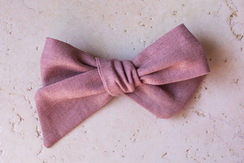Nora Medium Bow, Mauve