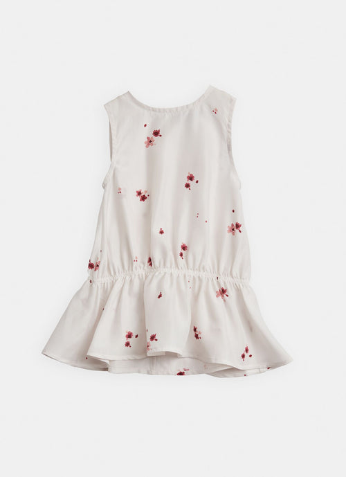 Belle Enfant Silk Flippy Tunic, Scattered Blossom