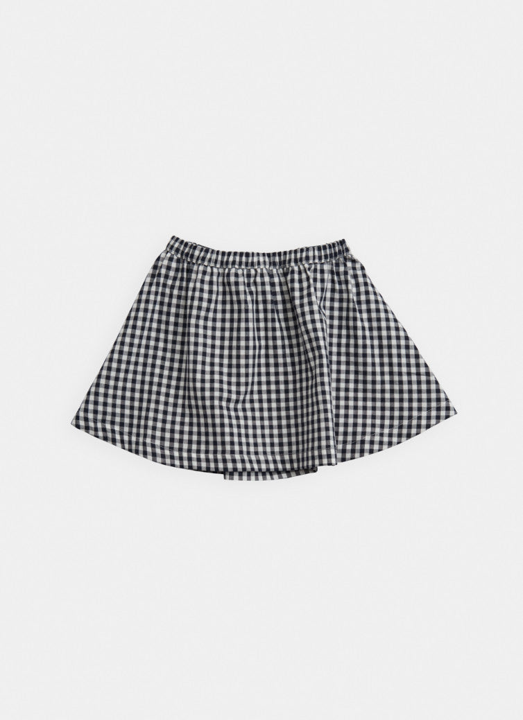 Belle Enfant Skater Skirt, Navy Gingham