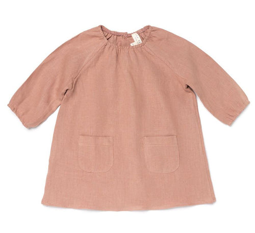 Les Gamins Linen Smock Dress, Mauve