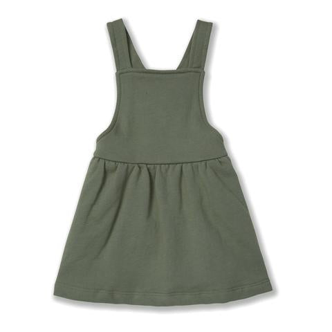 The Pinafore Dress, Olive