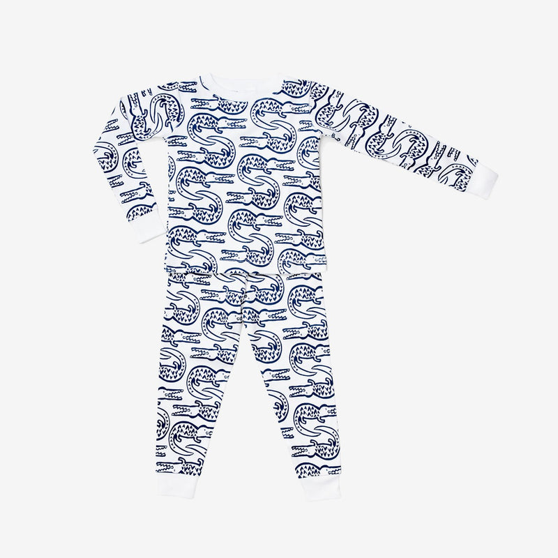 Pajama Set Alligator, Denim