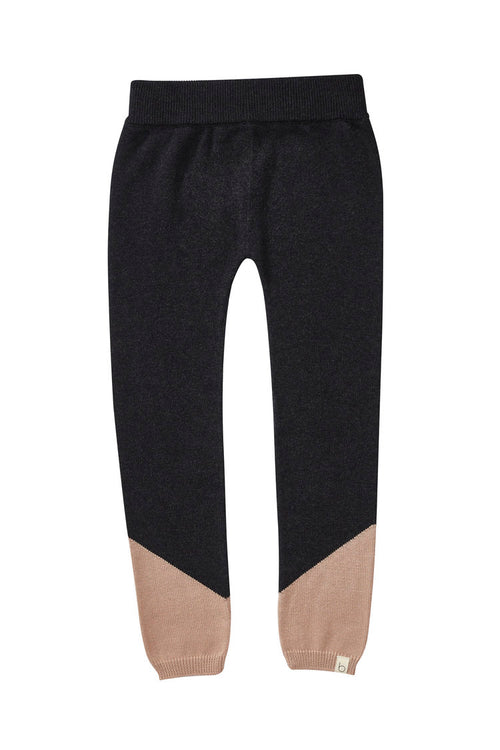 Bacabuche Colorblock Legging, Charcoal/Blush