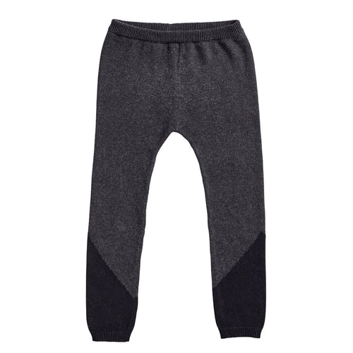 Bacabuche Colorblock Legging, Charcoal/Black