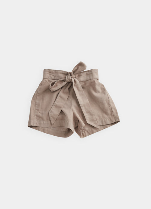 Cord Shorts, Taupe