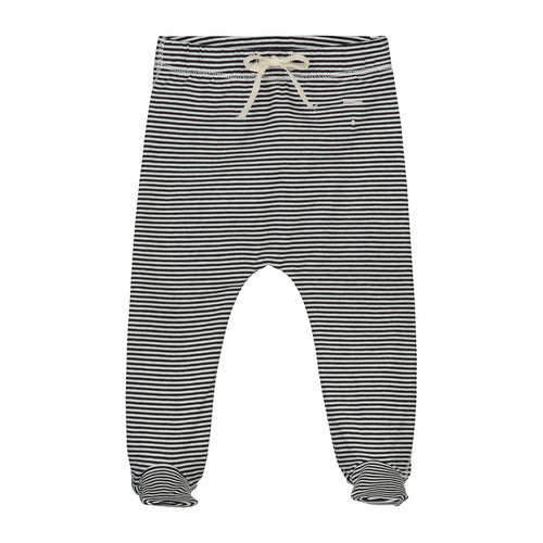 Gray Label Baby Footies, Nearly Black/Cream Stripe
