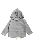 Gray Label Hooded Cardigan With Snaps, Grey Melange