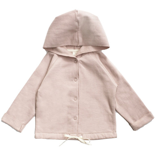 Gray Label Baby Hooded Cardigan, Vintage Pink