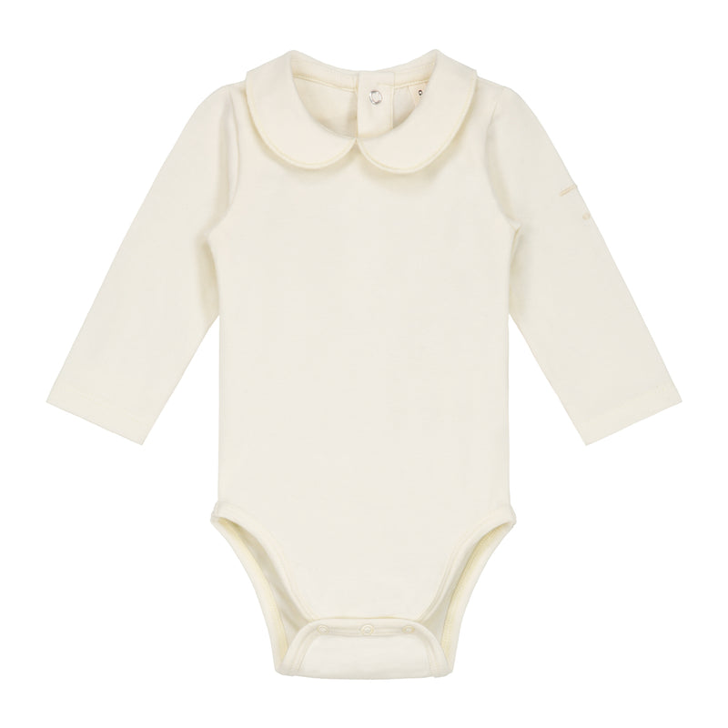 Gray Label Baby Onesie with Collar, Cream