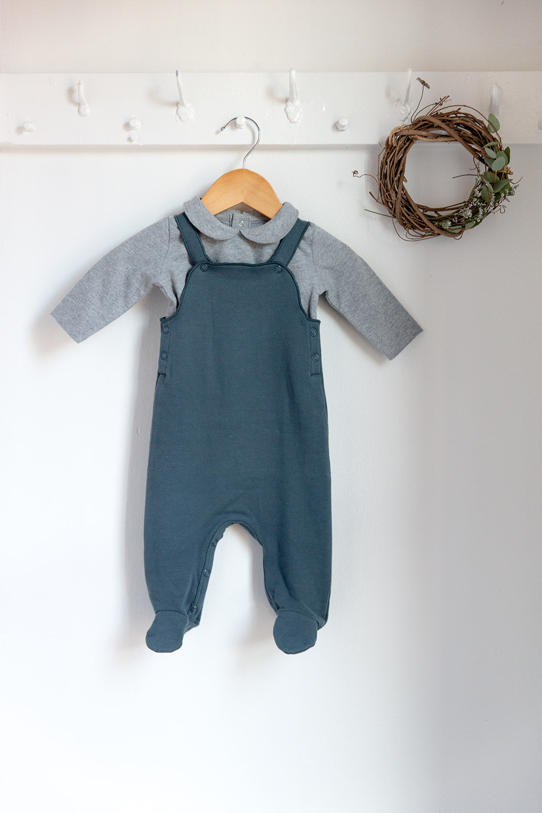 139216e42 Gray Label Baby Onesie with Collar