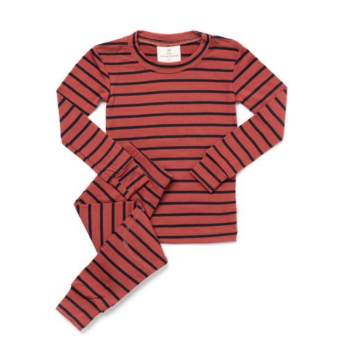 Chasing Windmills Long Johns, Rust Stripe