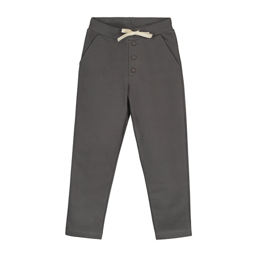 Gray Label Chino with Buttons, Dark Grey