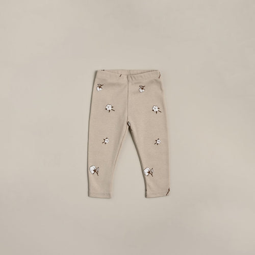 Organic Zoo Leggings, Cotton Field