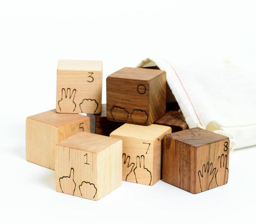 Counting Numbers Natural Wood Blocks