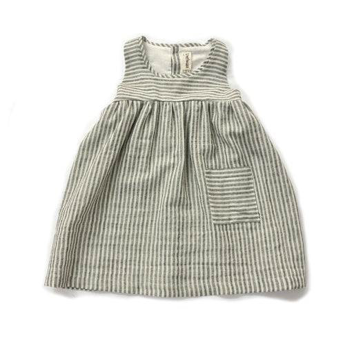 Treehouse Sleeveless Dress, Stripes