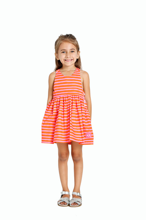 Smiling Button CC Dress, Fruitpunch