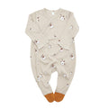 Organic Zoo Long-Sleeve Suit, Cotton Flower
