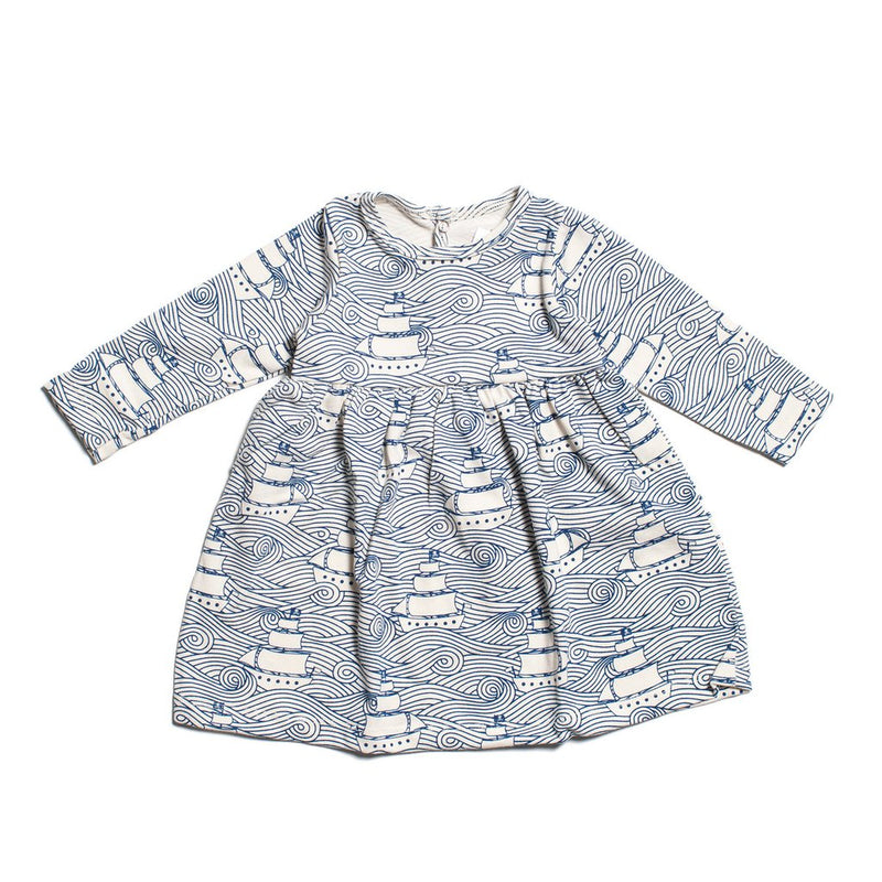 Winter Water Factory Geneva Baby Dress, High Seas Navy