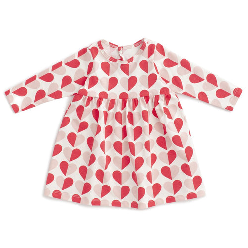 Geneva Baby Dress, Hearts Red & Pink
