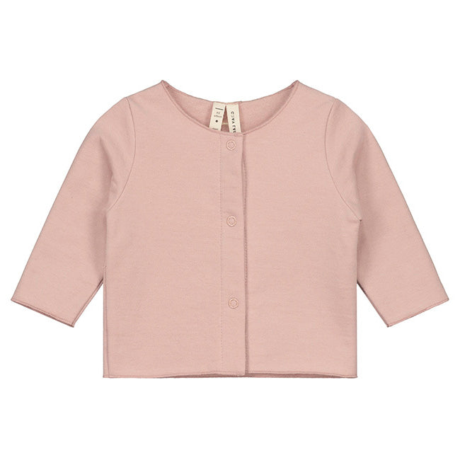 Gray Label Baby Cardigan, Vintage Pink
