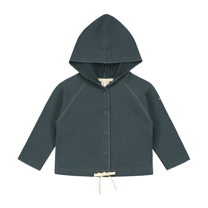 Gray Label Baby Hooded Cardigan, Blue Grey