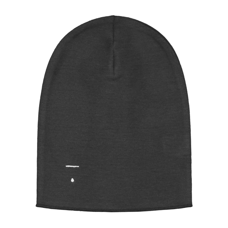 Gray Label Beanie, Nearly Black