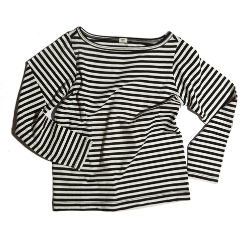GOAT-MILK Boat Neck Tee, Striped
