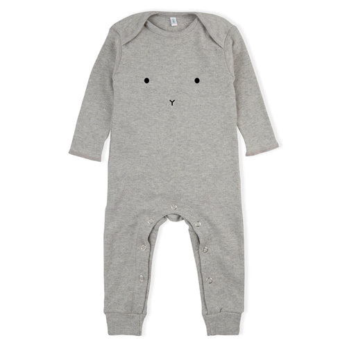 Long-Sleeve BUNNY Playsuit, Grey