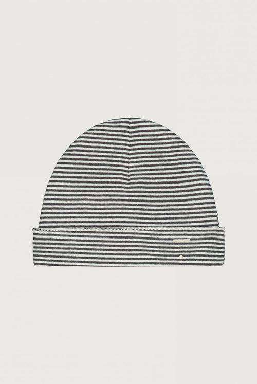 Baby Beanie, Nearly Black/Cream