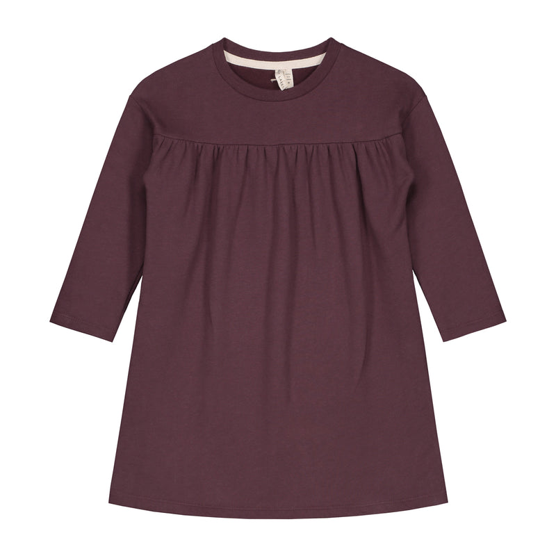 Gray Label Pleated Dress, Plum